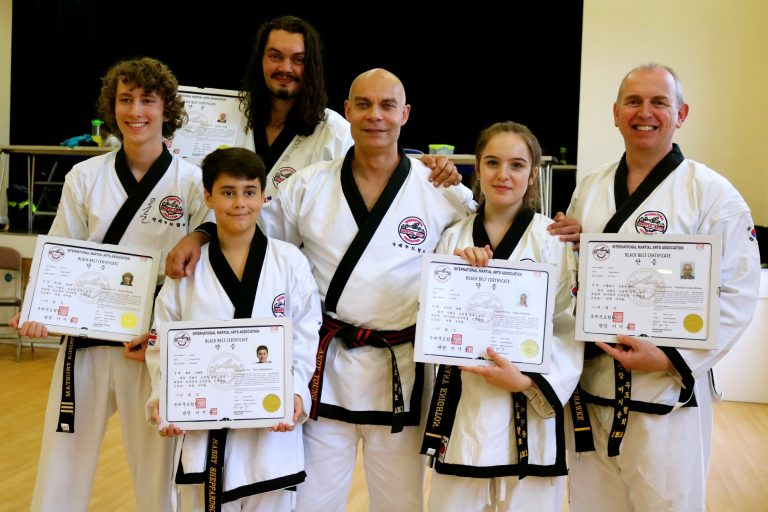 Master Young with New Black Belts 2018