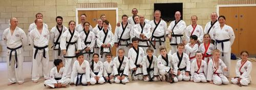 Master Young with Bedford Senior Belts July 2018