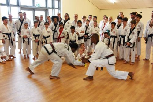 Master Heslop demonstrates at a seminar held by European Chief Instructor Master Nar in Bedford 2019
