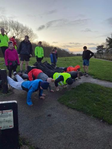 Christmas Run and Class at Willen Lake 2019